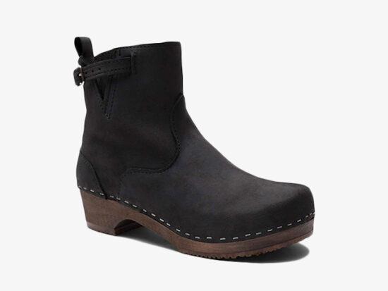 Sandgrens Swedish Low Heel Wooden Clog Boots.