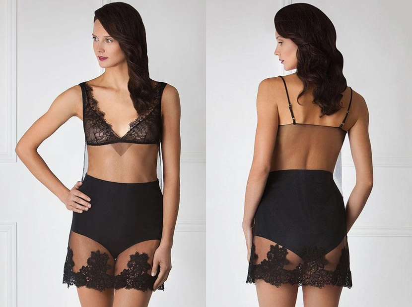 Sheer Mesh Delicate Mini Nightdress Amoralle.