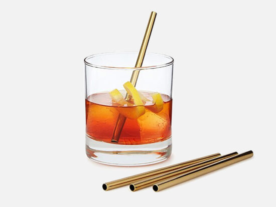 Stainless Steel Cocktail Straws.