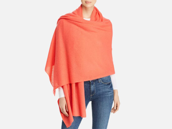 C by Bloomingdale's Cashmere Travel Wrap.