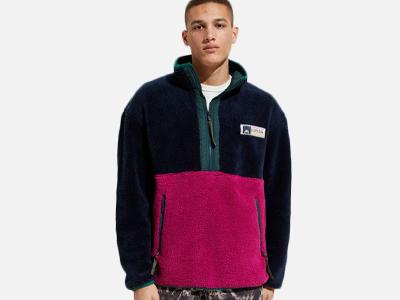 Canton Cotton Mills Boa Half-Zip Fleece Jacket.