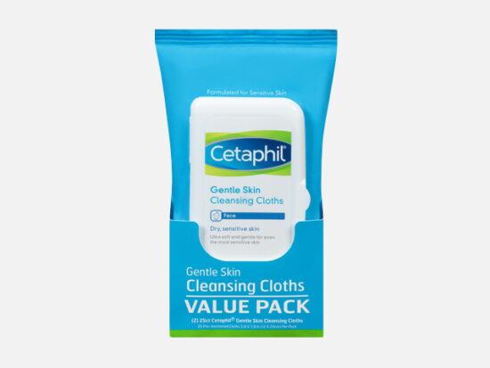 Cetaphil® Gentle Skin Cleansing Cloths 2-25 ct Pack.