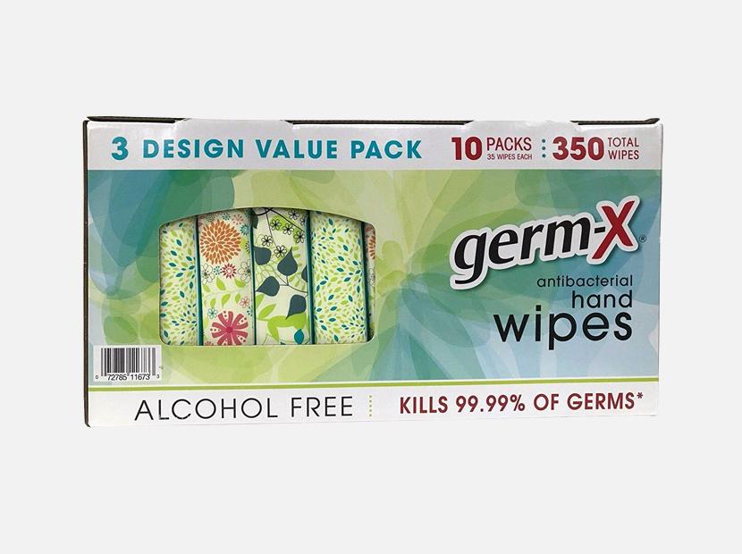 Germ-X Antibacterial Hand Wipes Designer Pack .