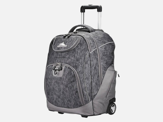 High Sierra Powerglide Rolling Laptop Backpack.