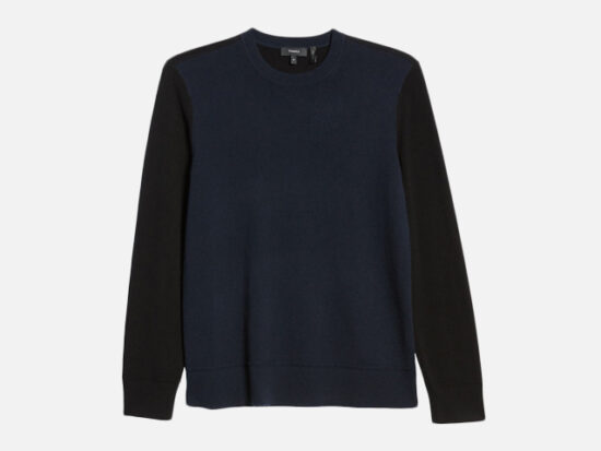 Hilles Standard Fit Crewneck Cashmere Sweater THEORY.