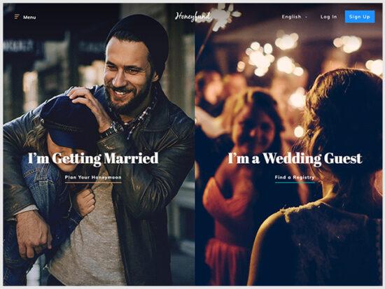 Honeyfund Wedding Registry.