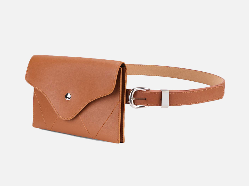 JASGOOD Womens Leather Belt Fanny Pack.