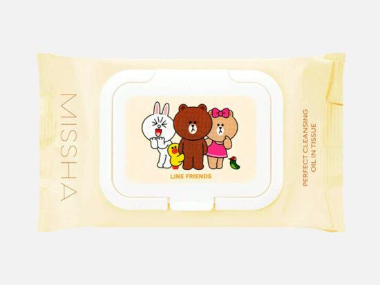 [Missha] Line Friends Super Aqua Cleansing Oil Tissue.