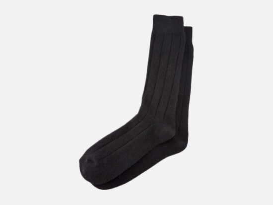 Neiman Marcus Men's Ribbed Cashmere Socks.