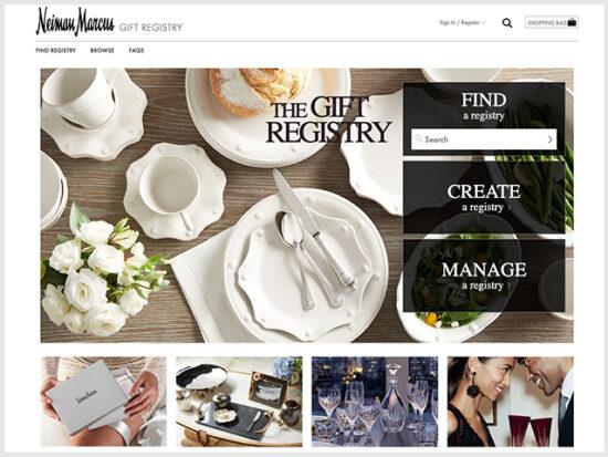Neiman Marcus Wedding Registry.