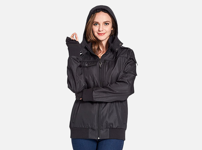 BOMBAX Women Travel Jacket 10 Pocket Flight Bomber.