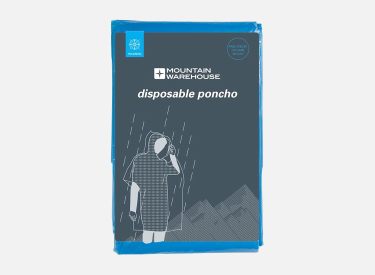 Disposable Unisex Poncho.