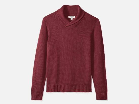 Goodthreads Men's Standard Soft Cotton Shawl Sweater.