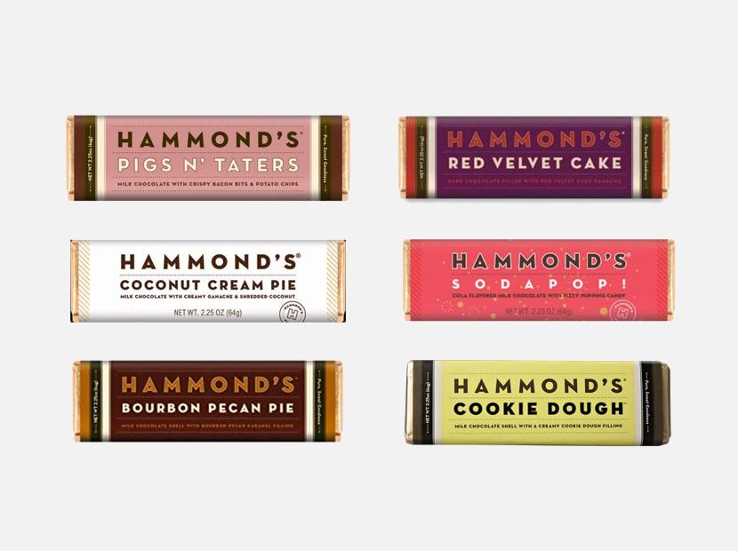 Hammond's Candies - Bundle of 6 Chocolate Bars.