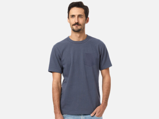 Heavyweight Recycled Cotton Pocket T-Shirt.