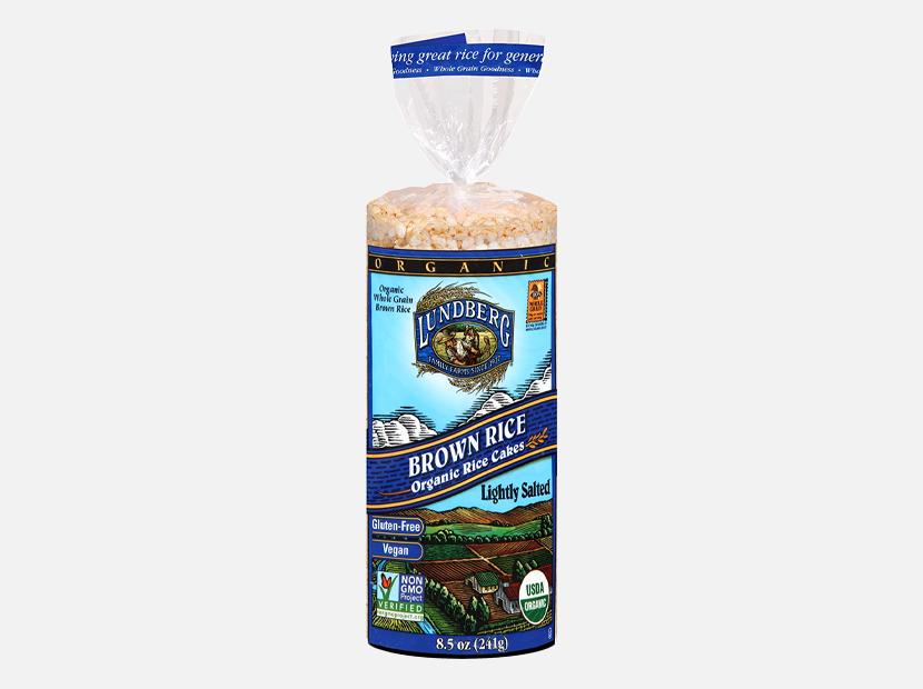 Lundberg Gluten-Free Brown Rice Organic Rice Cakes Lightly Salted.