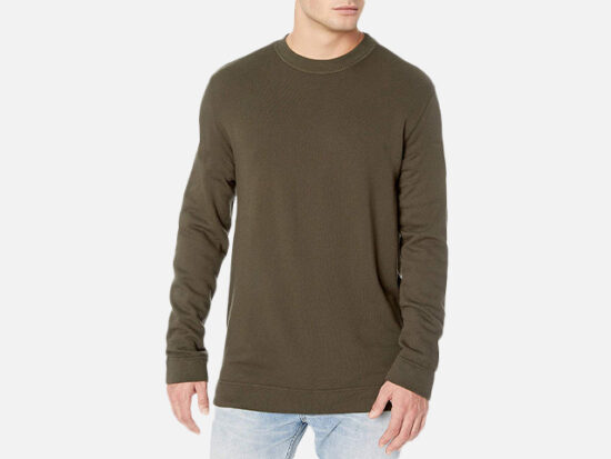 PAIGE Men's Marley Garment Dyed Sweatshirt.