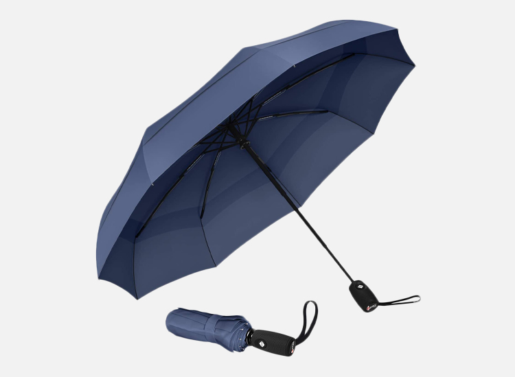 Repel Windproof Travel Umbrella with Teflon Coating.