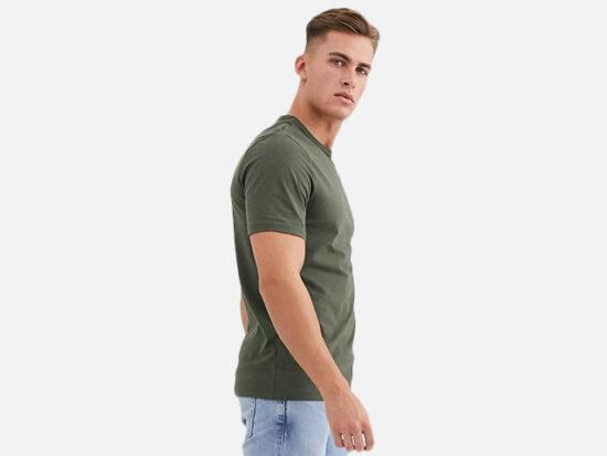 River Island slim fit t-shirt in khaki.