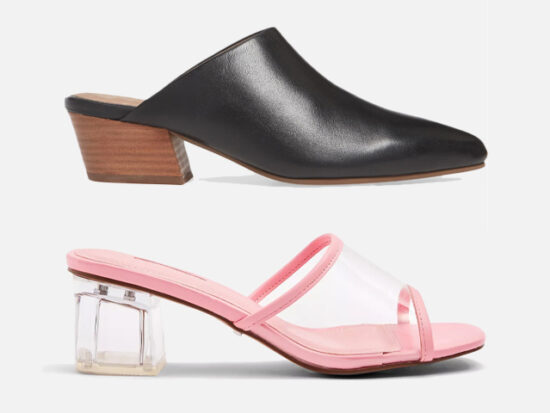 Seychelles Rendezvous Pointed Toe Mule and Topshop Dusty Pink Transparent Mules.