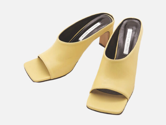Square Toe Mules.