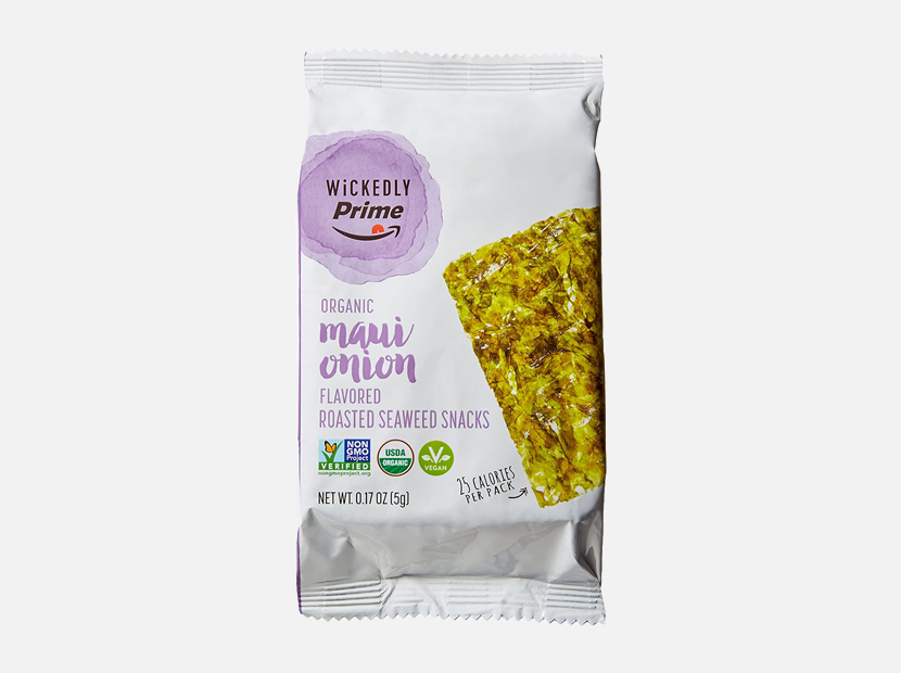 Wickedly Prime Organic Roasted Seaweed Snacks, Maui Onion Flavored.