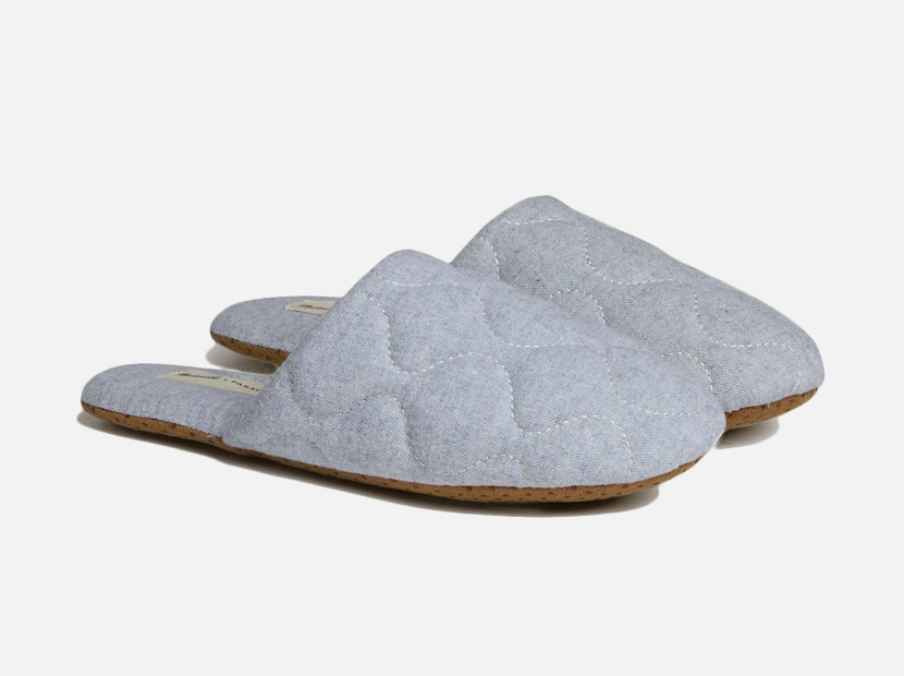 Chambray Quilted Slippers Madewell x Parachute.