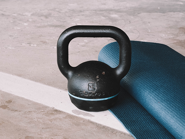 Home workout equipment.